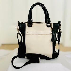 The Sak Sequoia Black & Cream Genuine Leather Bag